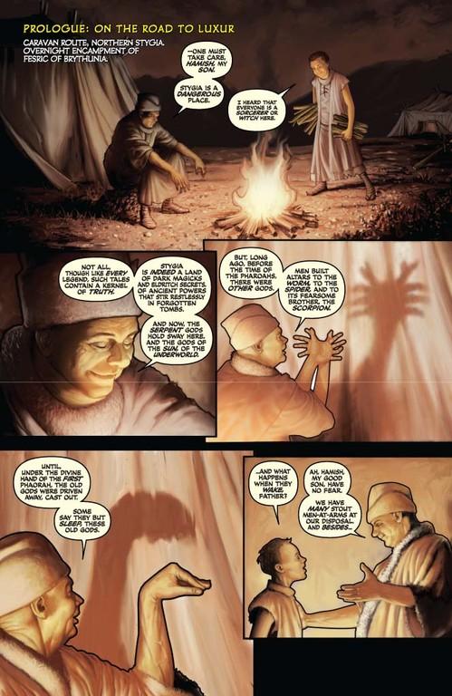 Red Sonja #60 - page 1 (script: Trautmann / art: Berkenkotter)