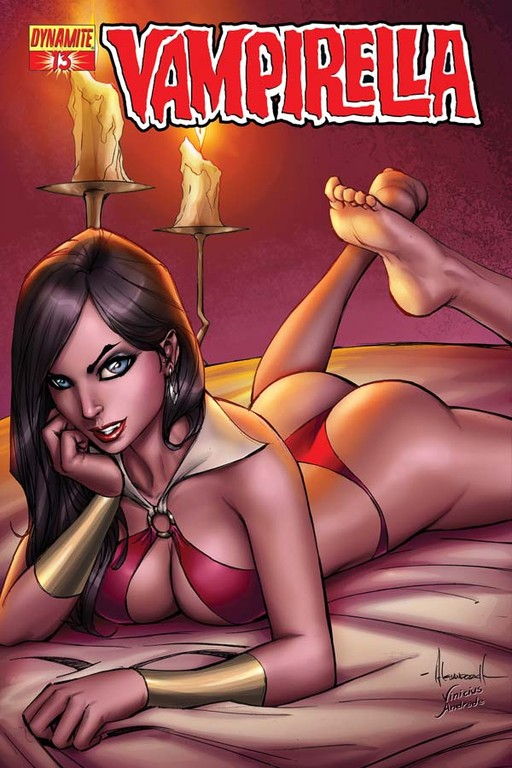 Vampirella #13 cover by Alé Garza