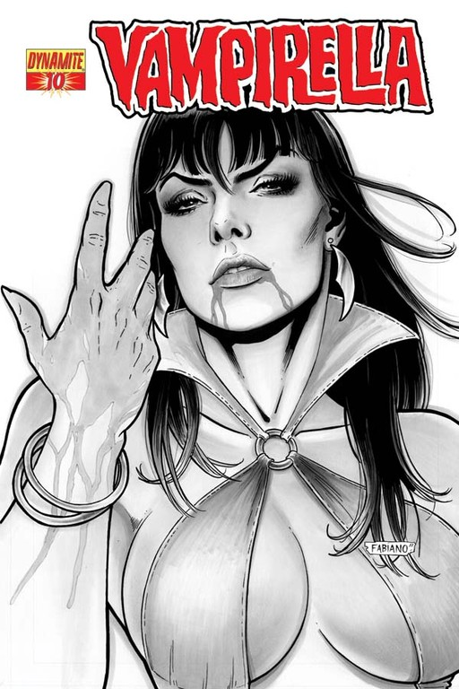 "Vampirella #10 ""Black & White"" incentive cover by Fabiano Neves"