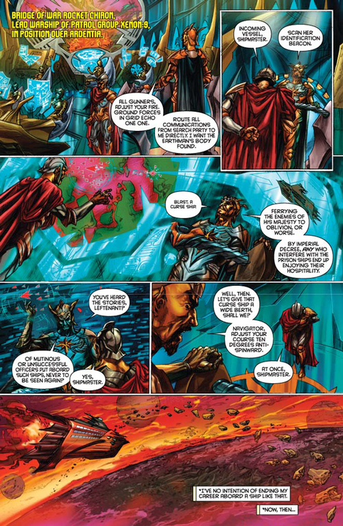 Flash Gordon: Zeitgeist #4 -- page 4 (script: Trautmann / art: Indro)