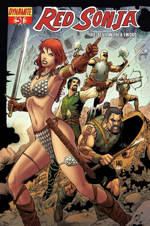 Red Sonja #51 cover by Walter Geovani