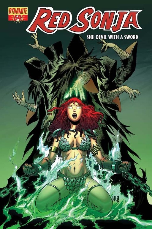 Red Sonja #64 cover by Walter Geovani