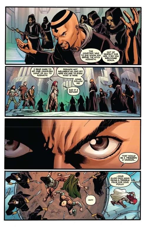 Red Sonja #64 -- page 8 (script: Trautmann / art: Geovani)