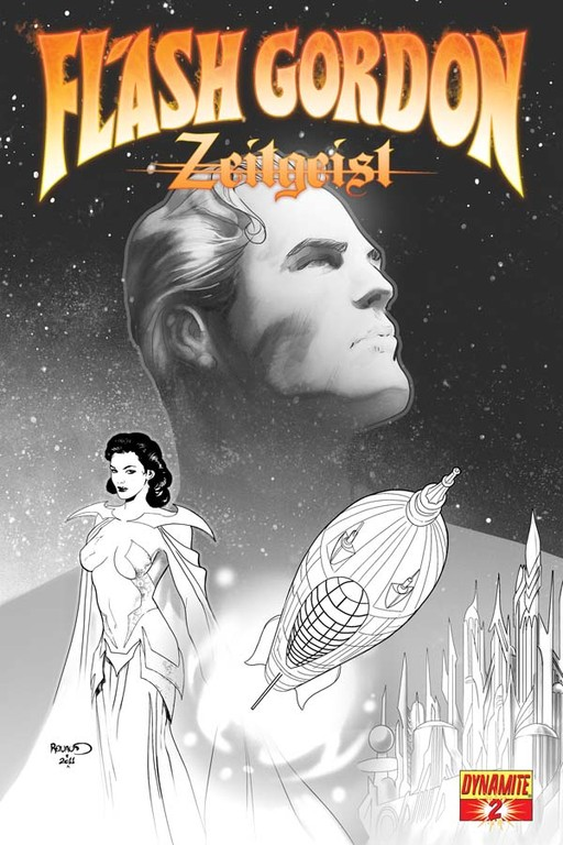 "Flash Gordon: Zeitgeist #2 ""Black & White"" incentive cover by Paul Renaud."