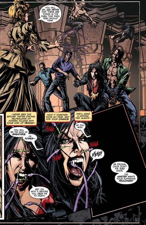 Vampirella #3, page 1. (Script: Trautmann; Art: Reis; Colors: Inlight Studios; Lettering: Dillon.)