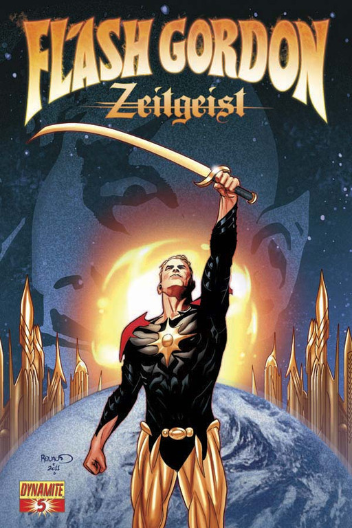 Flash Gordon: Zeitgeist #5 cover by Paul Renaud.