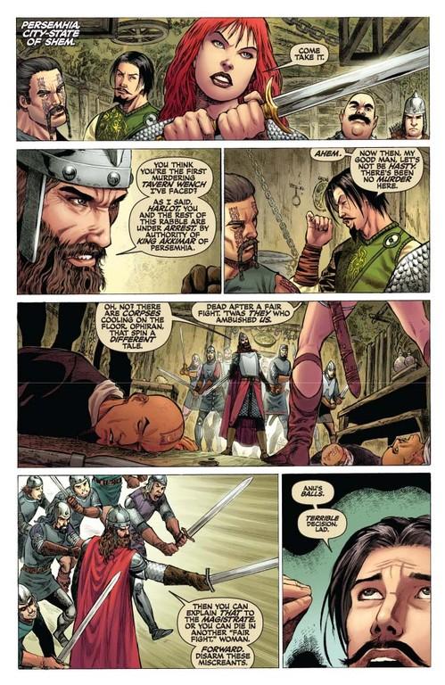 Red Sonja #52 - page 2 (script: Trautmann / art: Geovani)