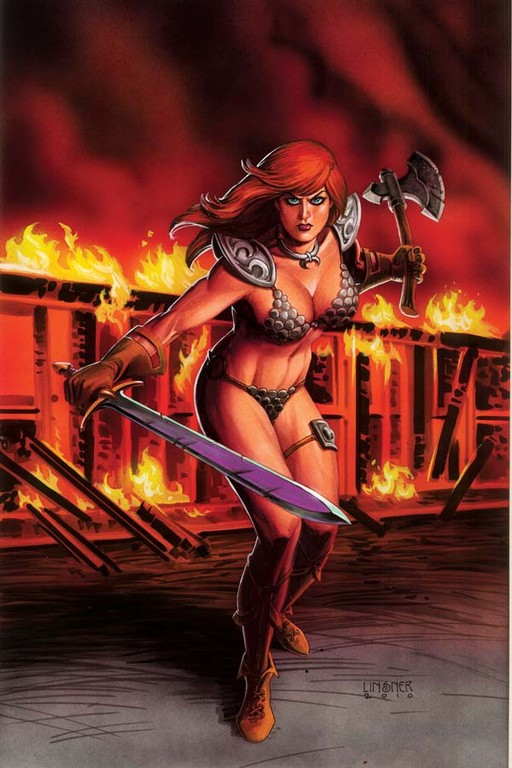 "Red Sonja #51 ""Virgin"" incentive cover by Joseph Michael Linsner"