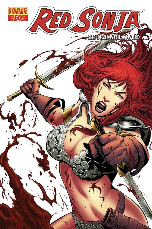 Red Sonja #60 cover by Walter Geovani