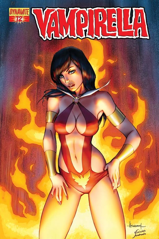 Vampirella #12 cover by Alé Garza.
