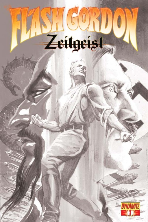Flash Gordon: Zeitgeist #1 B&W sketch cover by Alex Ross