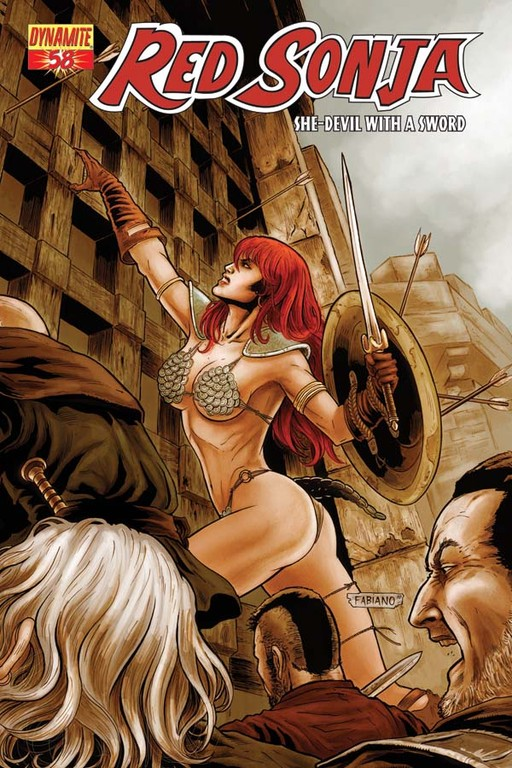 Red Sonja #58 cover by Fabiano Neves