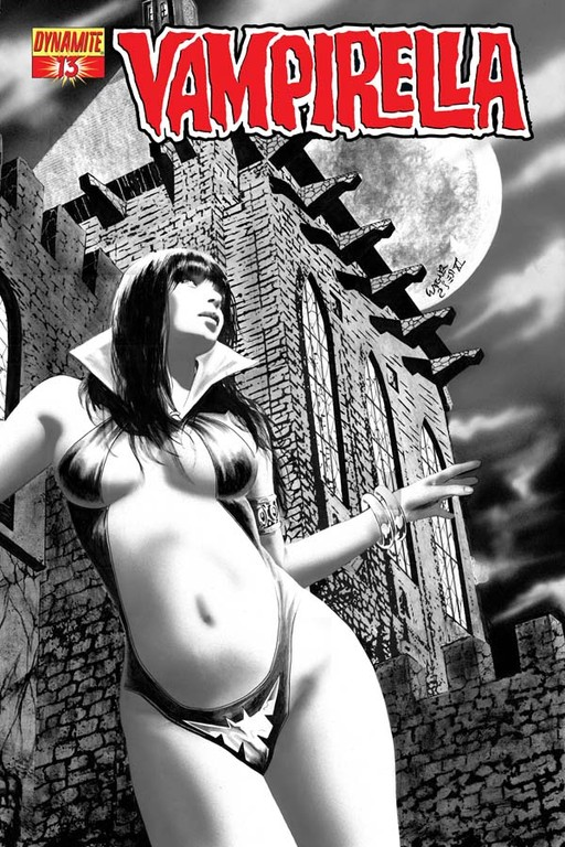 Vampirella #13 Black & White incentive cover by Wagner Reis