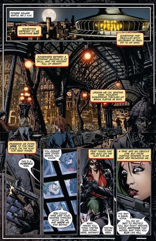 Vampirella #4, page 1 (Script: Trautmann / Art: Reis, Inlight Studios)