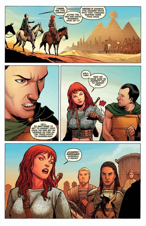 Red Sonja #61 - page 5 (script: Trautmann / art: Geovani)
