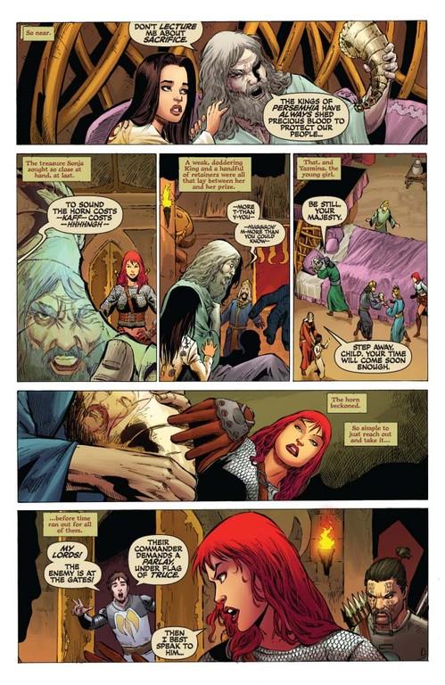 Red Sonja #54 - page 3 (script: Trautmann / art: Geovani)