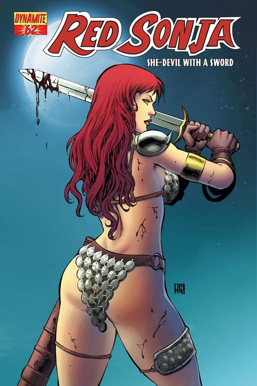 Red Sonja #62 cover by Walter Geovani