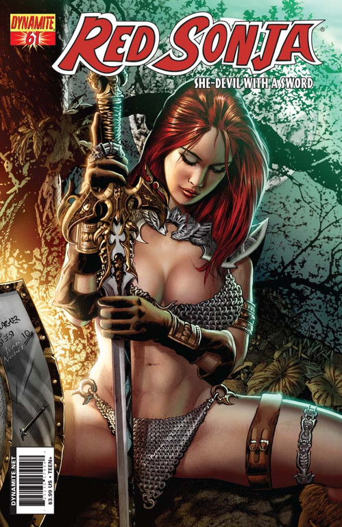 Red Sonja #61 cover by Wagner Reis