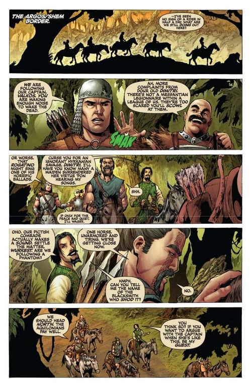 Red Sonja #51 - page 2 (script: Trautmann / art: Geovani)