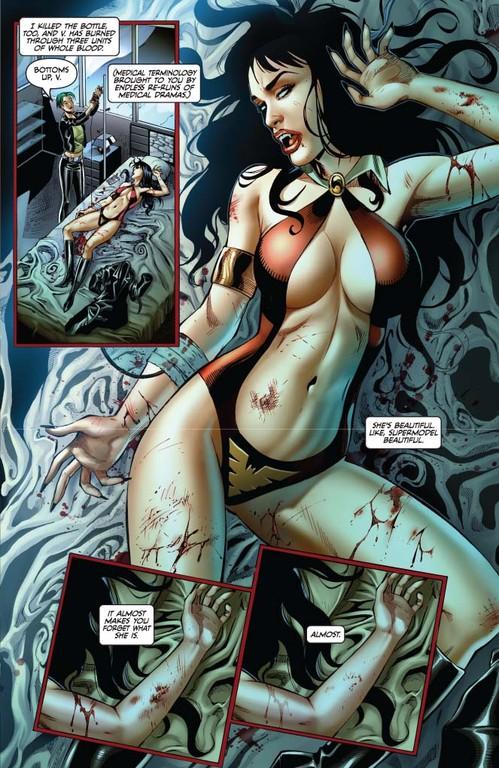 Vampirella #7 page 5 (script: Trautmann / art: Geovani)