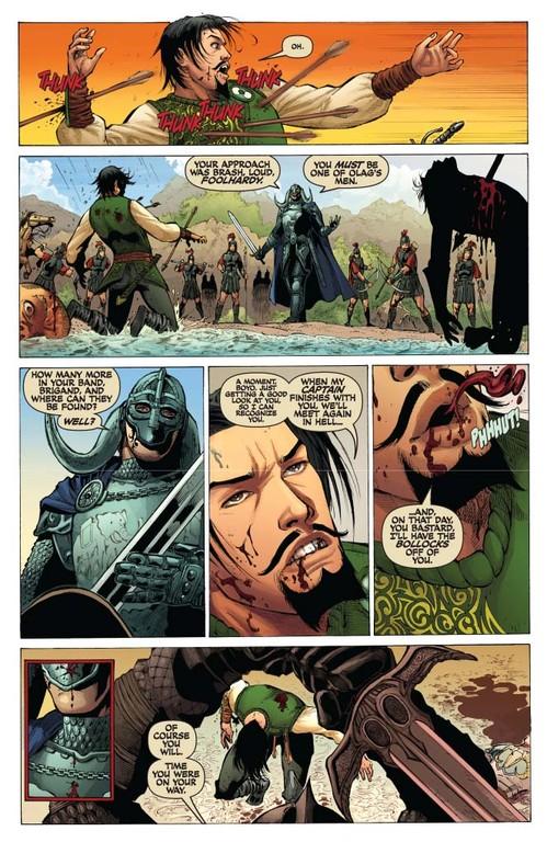 Red Sonja #53 -- page 4 (script: Trautmann / art: Geovani)