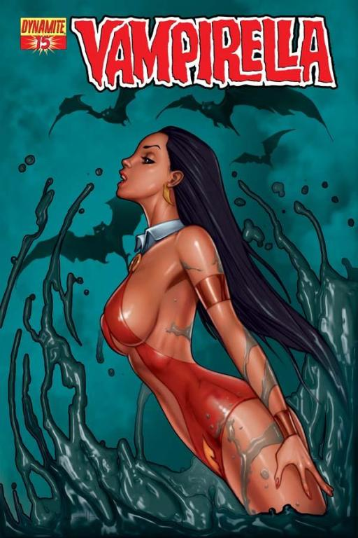 Vampirella #15 cover by Alé Garza