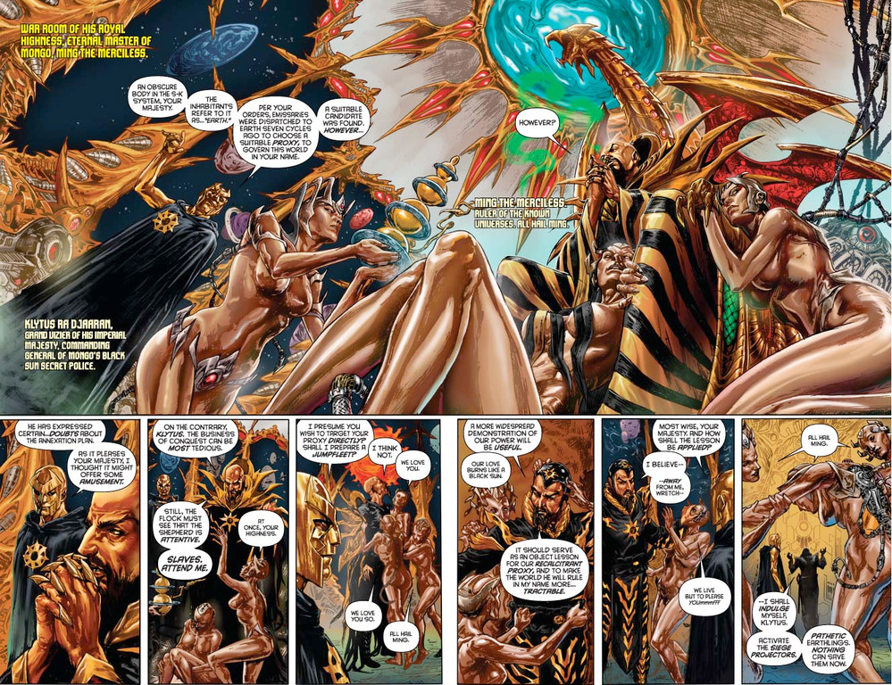 Flash Gordon: Zeitgeist #1 - pages 2-3 (script: Trautmann / art: Indro)