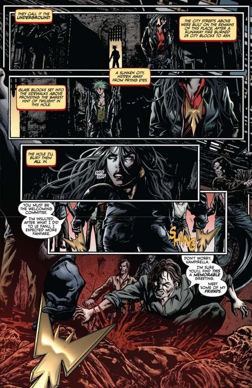 Vampirella #4, page 3 (Script: Trautmann / Art: Reis, Inlight Studios)
