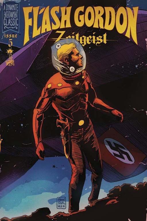 Flash Gordon: Zeitgeist #5 cover by Francesco Francavilla.