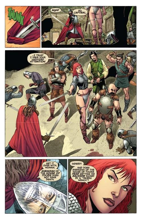 Red Sonja #52 - page 4 (script: Trautmann / art: Geovani)