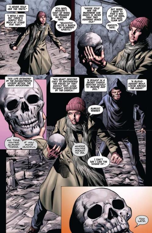 Vampirella #15 -- page 6 (script: Trautmann / art: Malaga)