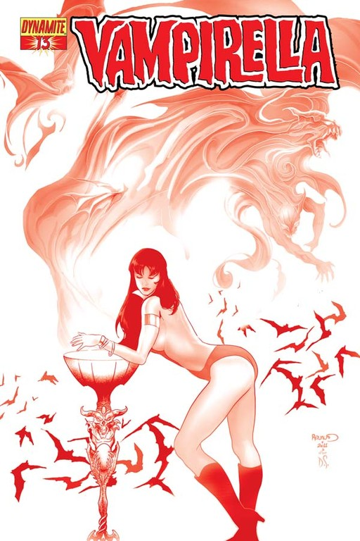 "Vampirella #13 ""Blood Red"" incentive cover by Paul Renaud"