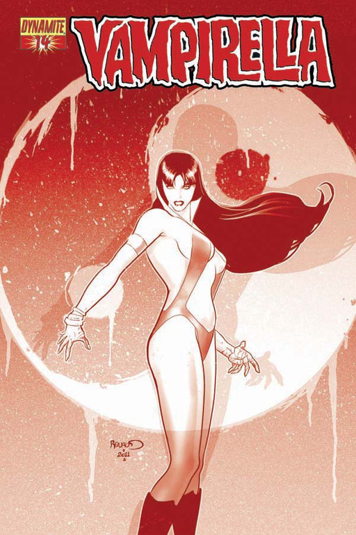 "Vampirella #14 ""Blood Red"" incentive cover by Paul Renaud"