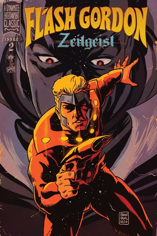 Flash Gordon: Zeitgeist #2 incentive cover by Francesco Francavilla.
