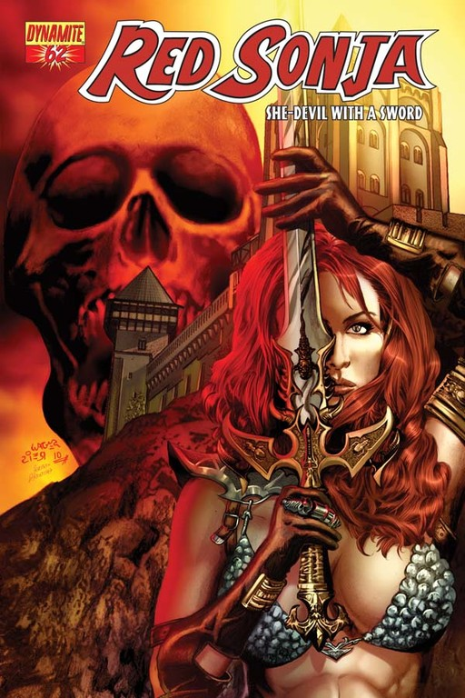 Red Sonja #62 cover by Wagner Reis