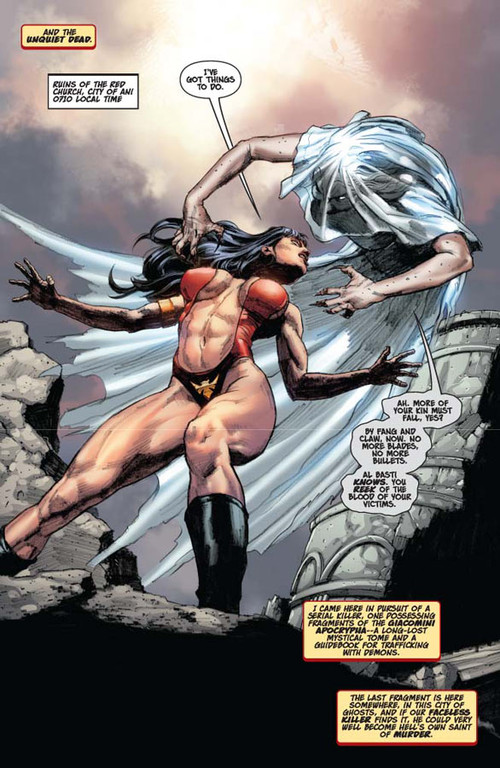 Vampirella #14 -- page 2 (script: Trautmann / art: Berkenkotter)