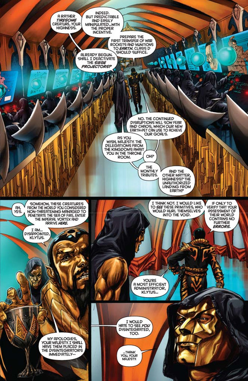 Flash Gordon: Zeitgeist #3 -- page 1 (Script: Trautmann, Art: Indro)