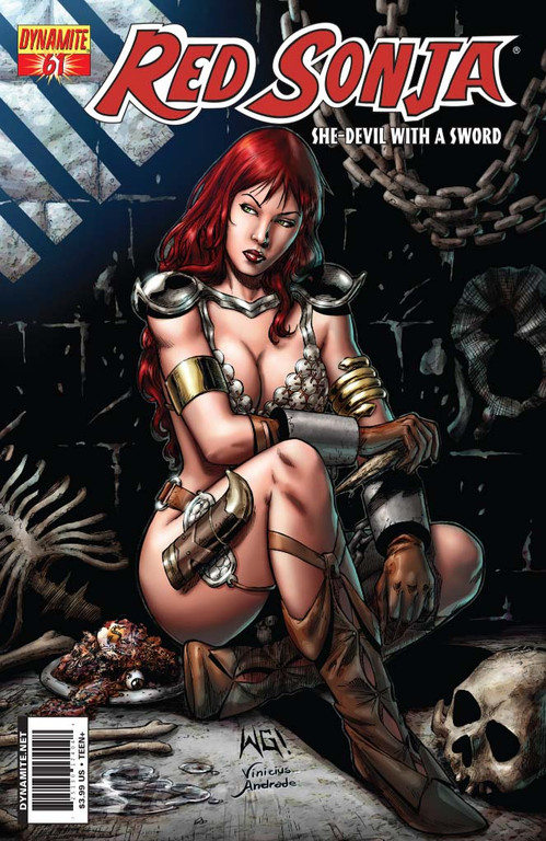 Red Sonja #61 cover by Walter Geovani