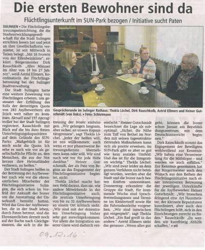 Sulinger Kreiszeitung, 09.12.2016