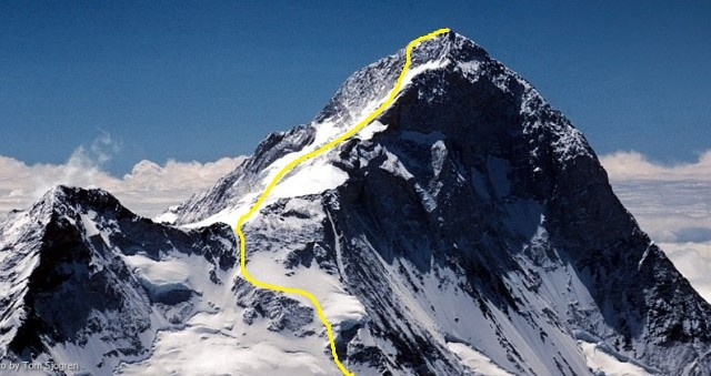Route from C3 on Makalu La to the Summit