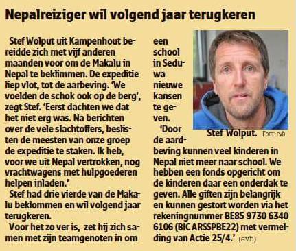 Het Nieuwsblad 19 mei 2015