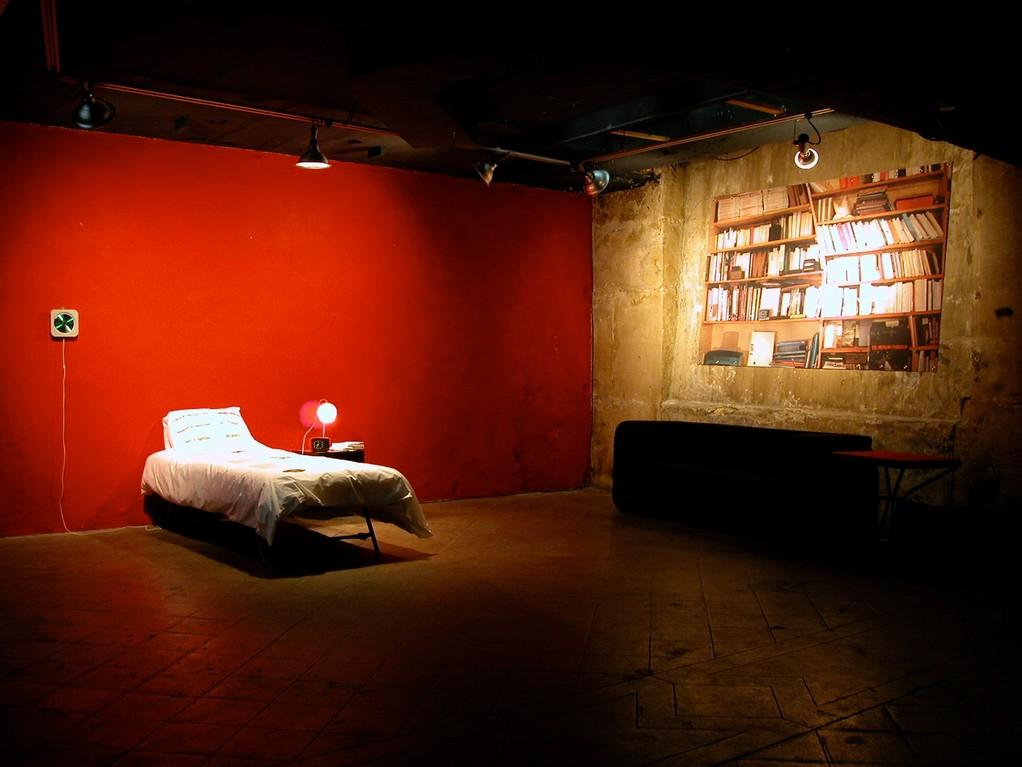sous-sol, espace de lecture