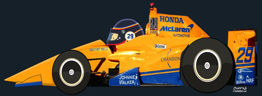 Fernando Alonso & Dallara IC-12 with Honda