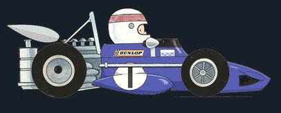 Jackie Stewart by Muneta & Cerracin - Primera victoria de Jackie Stewart en el XXXVIº Gran Premio d'Italia de 1965 en Monza