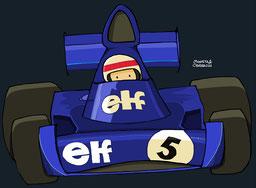 Jackie Stewart con su Tyrrell 006 - Ford Cosworth