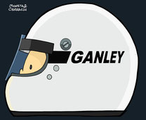 Helmet of Howden Ganley by Muneta & Cerracín