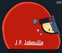 Helmet of Jean Pierre Jabouille by Muneta & Cerracín