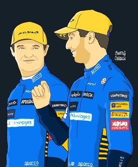 Lando Norris & Daniel Ricciardo by Muneta & Cerracín