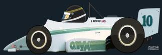 Johnny Dumfries by Muneta & Cerracín - Onyx 85B - March Cosworth