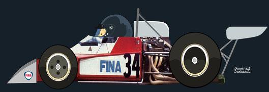 Andrea de Adamich en 1972 con su Surtees TS14 by Muneta & Cerracín